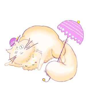 aikawayukiさんのふわふわ長毛の猫の2頭身キャラクターデザインをお願いいたしますへの提案