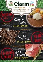 飲食店(カレー、カフェ、ソフトバル)のA4チラシ作成への提案