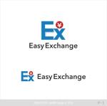 dari88さんの外貨自動両替機システム「easy exchange」のサービスのロゴへの提案