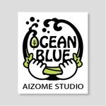 nocco_555さんの藍染めTシャツに縫い付けるネームタグのロゴデザインへの提案