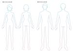 脱毛サロン体の部位表記シンプルなイラストへの提案