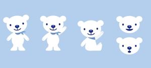 INDIGOGRAPHIXさんの会社のマスコットキャラクター 白くまへの提案