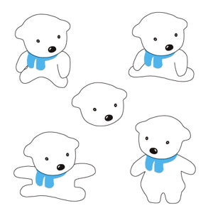 kurioさんの会社のマスコットキャラクター 白くまへの提案