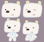 100humさんの会社のマスコットキャラクター 白くまへの提案