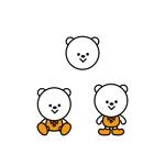 OnionDesignさんの会社のマスコットキャラクター 白くまへの提案