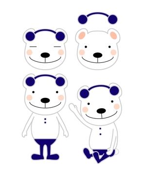 blue_skyさんの会社のマスコットキャラクター 白くまへの提案