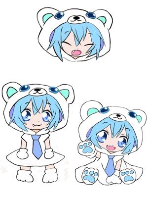 yorinobuさんの会社のマスコットキャラクター 白くまへの提案