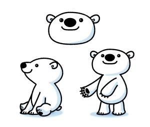 tom_03さんの会社のマスコットキャラクター 白くまへの提案