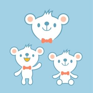 pastelさんの会社のマスコットキャラクター 白くまへの提案
