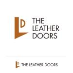 hi06さんのレザーセレクトショップ「THE LEATHER DOORS」のロゴ制作依頼への提案