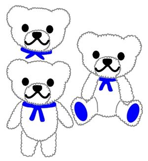 murakami25さんの会社のマスコットキャラクター 白くまへの提案