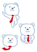 KARURAさんの会社のマスコットキャラクター 白くまへの提案