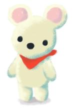 satomix_cafeさんの会社のマスコットキャラクター 白くまへの提案