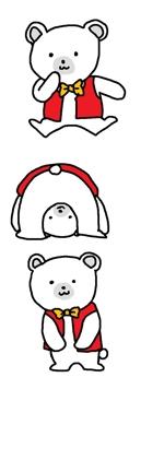 yotiyoti-arukuさんの会社のマスコットキャラクター 白くまへの提案