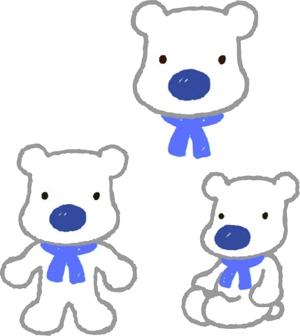 tomo_garuさんの会社のマスコットキャラクター 白くまへの提案