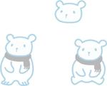 akatuki_designさんの会社のマスコットキャラクター 白くまへの提案