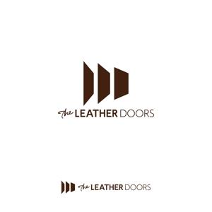 -TKN-さんのレザーセレクトショップ「THE LEATHER DOORS」のロゴ制作依頼への提案