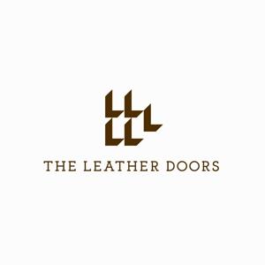 designdesignさんのレザーセレクトショップ「THE LEATHER DOORS」のロゴ制作依頼への提案