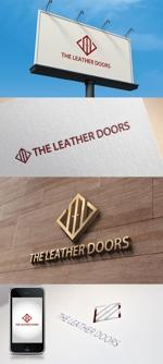 katsu31さんのレザーセレクトショップ「THE LEATHER DOORS」のロゴ制作依頼への提案