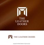 m-spaceさんのレザーセレクトショップ「THE LEATHER DOORS」のロゴ制作依頼への提案