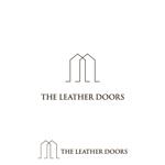 DeeDeeGraphicsさんのレザーセレクトショップ「THE LEATHER DOORS」のロゴ制作依頼への提案