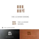 dscltyさんのレザーセレクトショップ「THE LEATHER DOORS」のロゴ制作依頼への提案