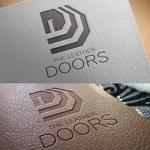 nekosuさんのレザーセレクトショップ「THE LEATHER DOORS」のロゴ制作依頼への提案