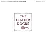 kzdesignさんのレザーセレクトショップ「THE LEATHER DOORS」のロゴ制作依頼への提案