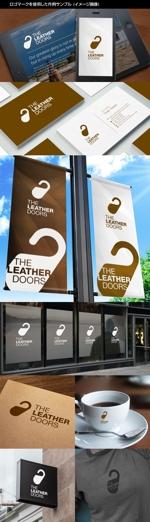kinryuzanさんのレザーセレクトショップ「THE LEATHER DOORS」のロゴ制作依頼への提案