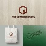 atomgraさんのレザーセレクトショップ「THE LEATHER DOORS」のロゴ制作依頼への提案