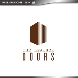 katagirisingさんのレザーセレクトショップ「THE LEATHER DOORS」のロゴ制作依頼への提案