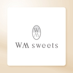 luxe_dbさんのSweets shop「WM sweets」のロゴデザインへの提案