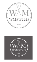 cozouさんのSweets shop「WM sweets」のロゴデザインへの提案