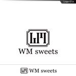 fs8156さんのSweets shop「WM sweets」のロゴデザインへの提案