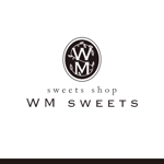 ns_worksさんのSweets shop「WM sweets」のロゴデザインへの提案