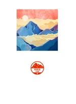 andy_kimさんの百名山バッチボードのデザイン募集(A2ポスターサイズ・布地印刷用データ)への提案