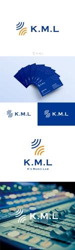takudyさんの架空のレコード会社「K.M.L」のロゴへの提案