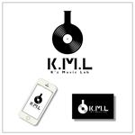 chanlanさんの架空のレコード会社「K.M.L」のロゴへの提案