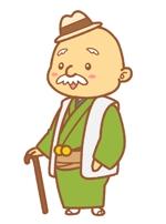 2.5頭身のかわいらしいおじいさんのキャラクターへの提案