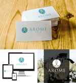 nakagami3さんのアロマテラピーと整体のリラクゼーション事業「アローム」のロゴ への提案
