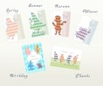 rock_candyさんのポストカードのデザイン(四季4種+他2種)への提案