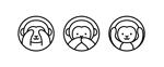 日光東照宮の三猿のイラストデザインへの提案