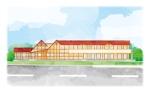 かわいい建物(介護施設)のイラストへの提案