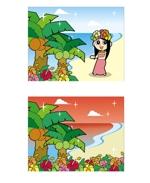 nyoroさんのハワイをイメージしたイラスト 2点への提案