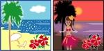 bon-tomoeさんのハワイをイメージしたイラスト 2点への提案