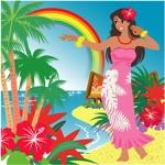 freehandさんのハワイをイメージしたイラスト 2点への提案