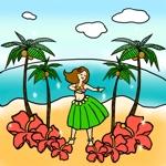 nobanobaさんのハワイをイメージしたイラスト 2点への提案